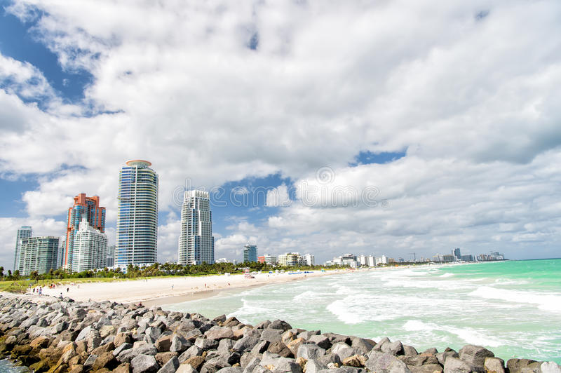 南海滩,迈阿密海滩 佛罗里达 库存照片
