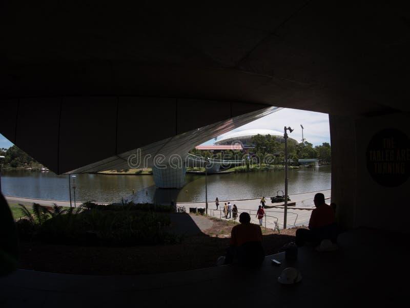 南澳大利亚城市阿德莱德在夏天 免版税库存照片