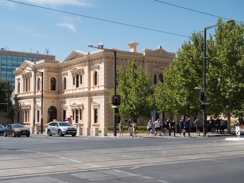 南澳大利亚城市阿德莱德在夏天 图库摄影