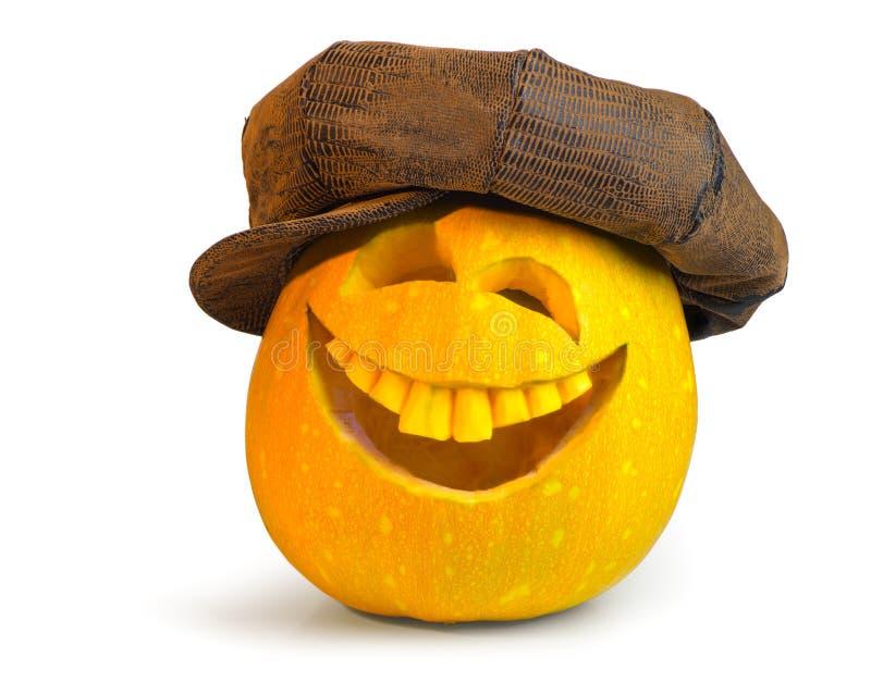 南瓜为在盖帽的万圣夜 免版税库存照片