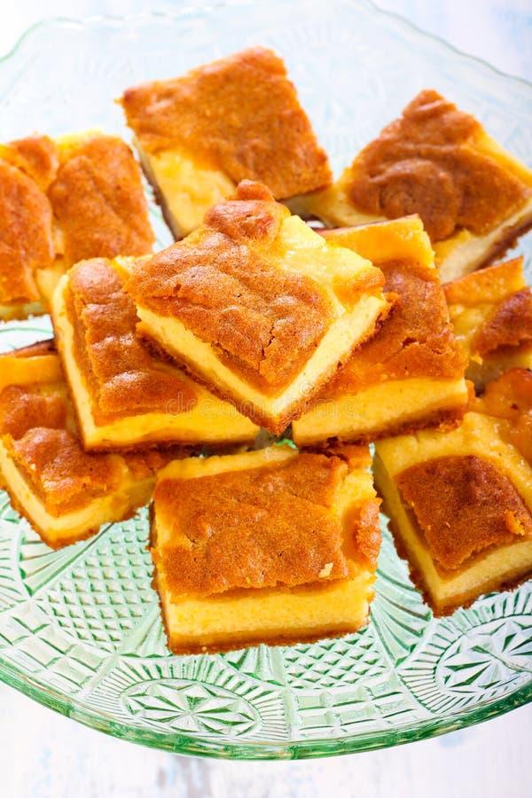 南瓜乳酪蛋糕酒吧 图库摄影