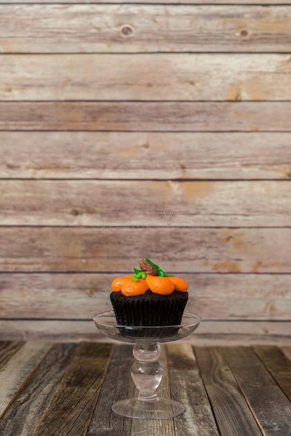 南瓜杯形蛋糕 库存图片