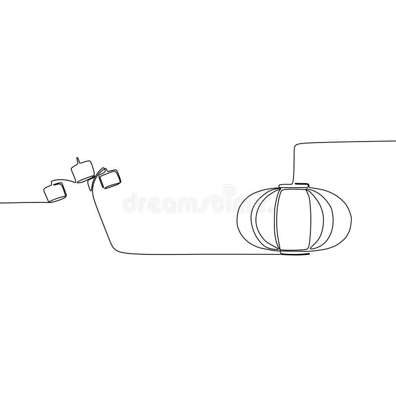 南瓜灯和三倍灯实线灯集合、天花板、桌、书桌和落地灯传染媒介例证  向量例证