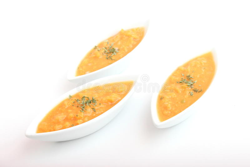 南瓜的汤 免版税库存图片