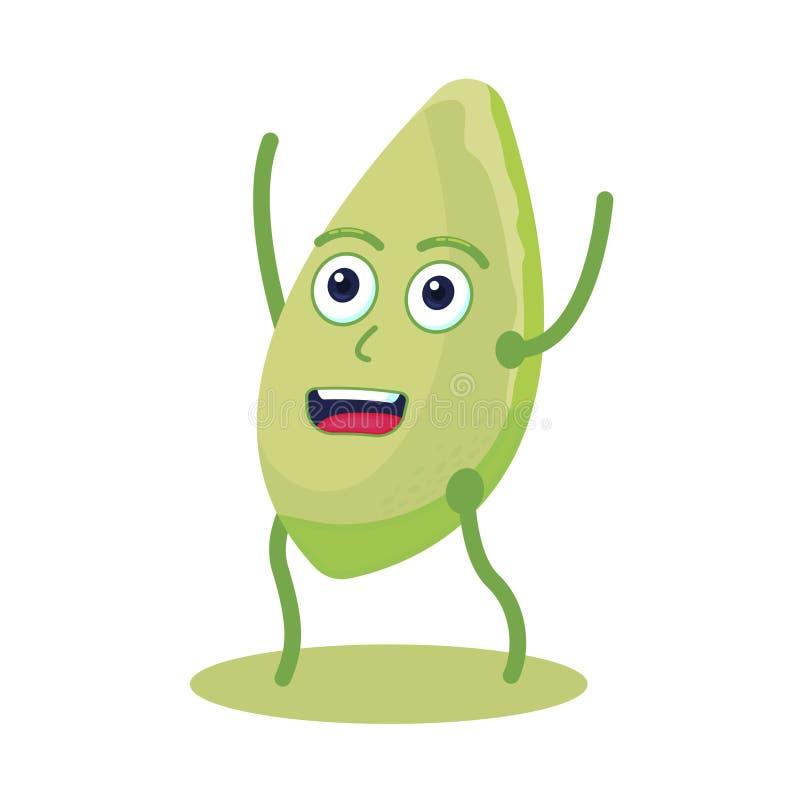 南瓜籽字符 健康的食物 素食主义者蛋白质资源食物 库存例证