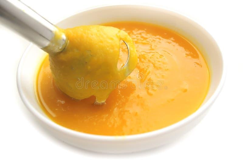 南瓜纯汁浓汤 免版税库存图片