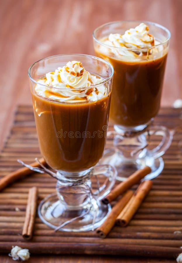 南瓜香料咖啡 免版税库存图片