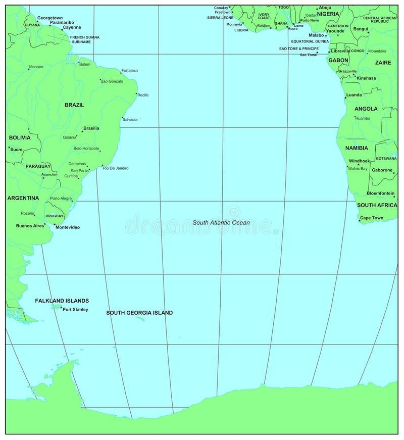 南的大西洋 皇族释放例证