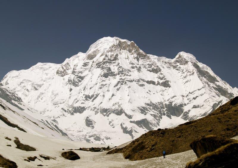 南的Annapurna 图库摄影