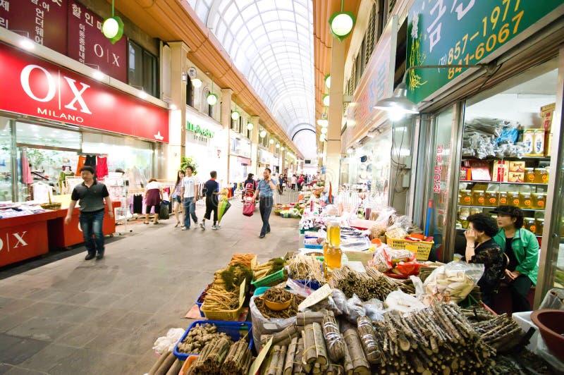 南益山室内韩国的市场 免版税图库摄影