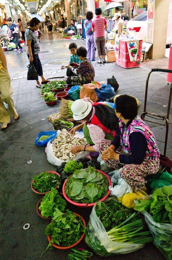 南益山室内韩国的市场 库存照片
