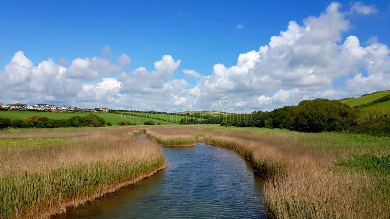 南米尔顿莱伊 南米尔顿,南,英国德文郡 免版税图库摄影