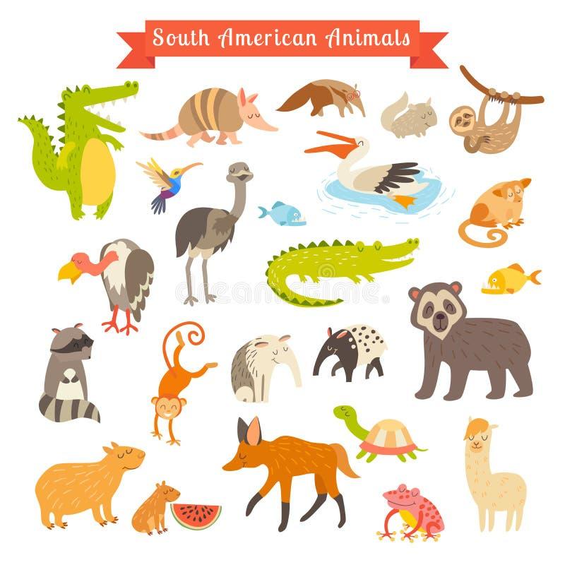南美动物传染媒介例证 大传染媒介集合 在空白背景 向量例证