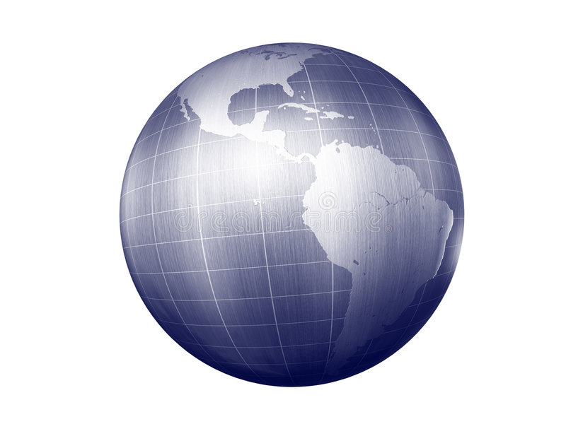 南美国的地球 免版税库存照片