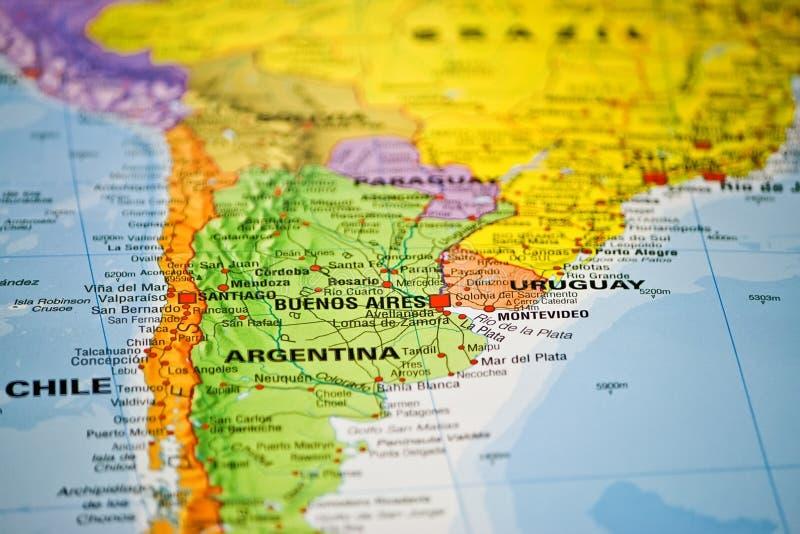 南美国coloful的映射 免版税库存图片