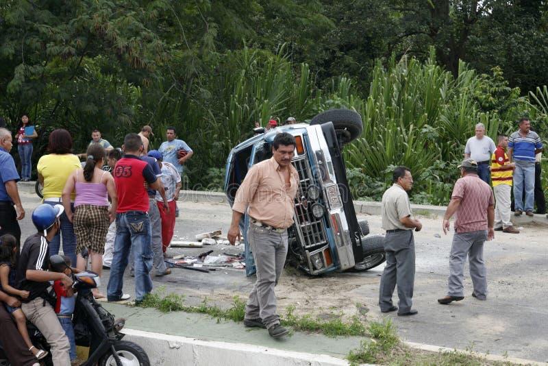 南美委内瑞拉特鲁希略角车祸 库存图片
