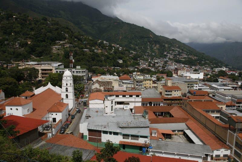 南美委内瑞拉特鲁希略角镇 库存图片