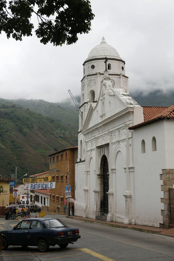 南美委内瑞拉特鲁希略角镇 免版税库存图片