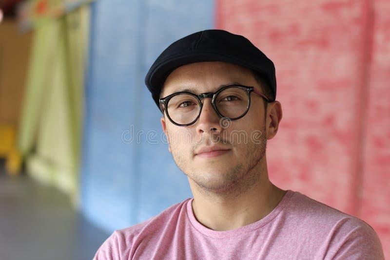 南美年轻人画象 免版税图库摄影