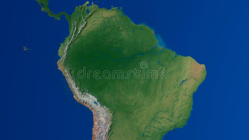 南美洲地图3D翻译 皇族释放例证