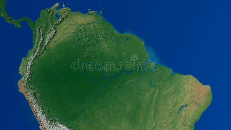 南美洲地图3D翻译 库存例证