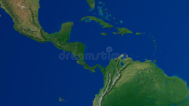 南美洲地图3D翻译 向量例证