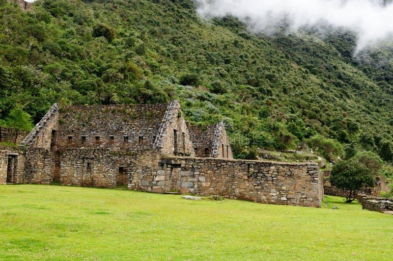 南美洲-秘鲁,Choquequirao的印加人废墟 库存照片