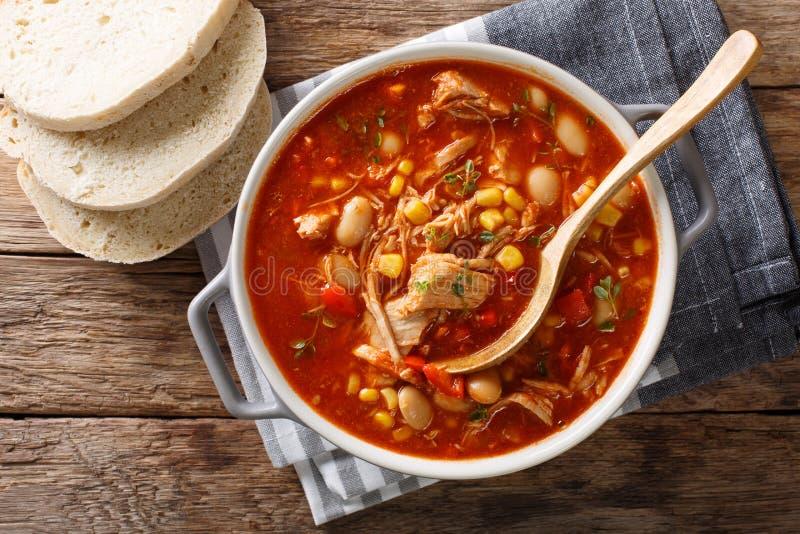 南美食物布朗斯维克炖煮的食物拉扯了与菜o的肉 库存图片