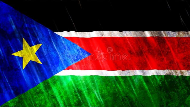 南苏丹旗子 向量例证