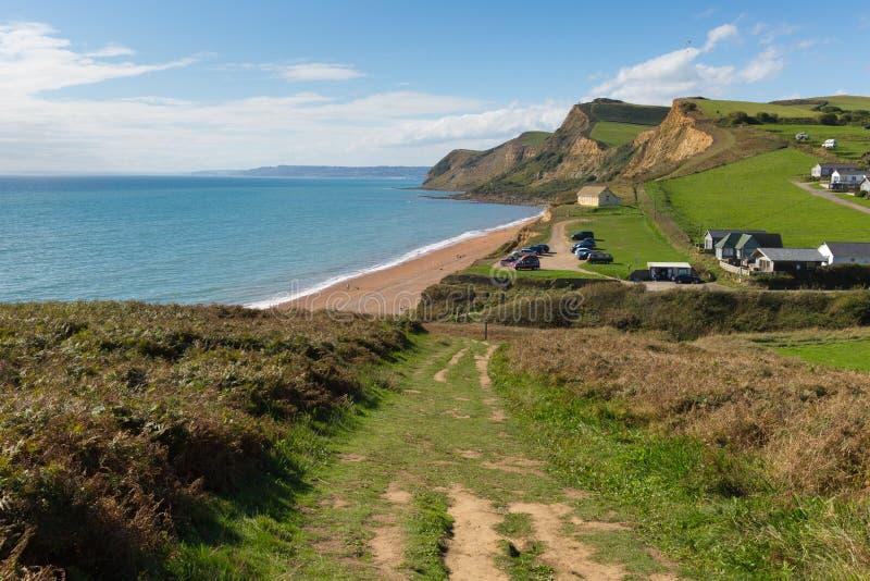 南西海岸道路Eype多西特英国英国 免版税图库摄影