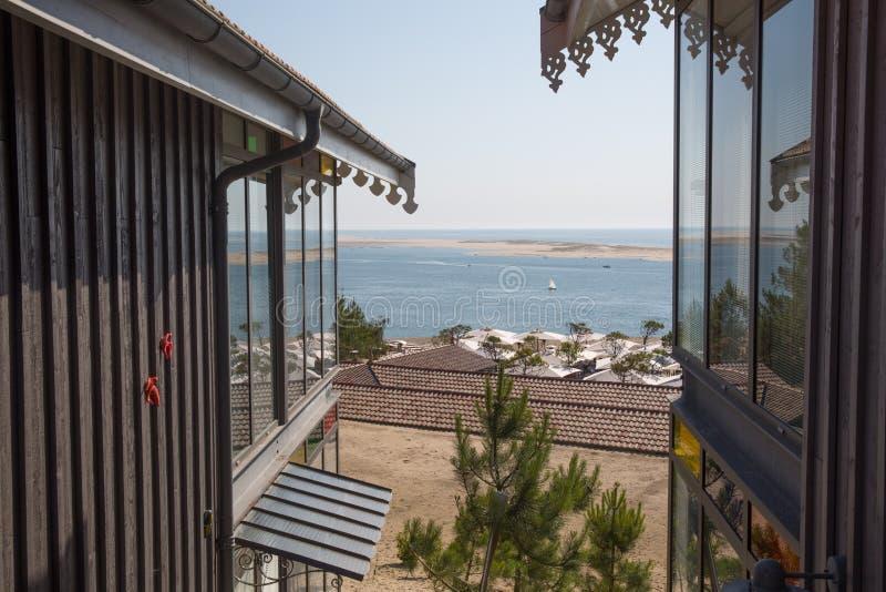 南西部豪华旅游胜地和海湾看法在法国 库存照片