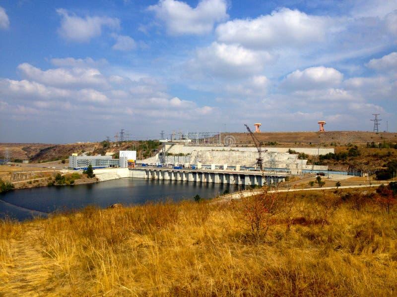 南部乌克兰电力导致复合体, Nikolaev地区,乌克兰 免版税库存图片