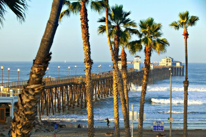 南部加利福尼亚的码头 免版税库存照片