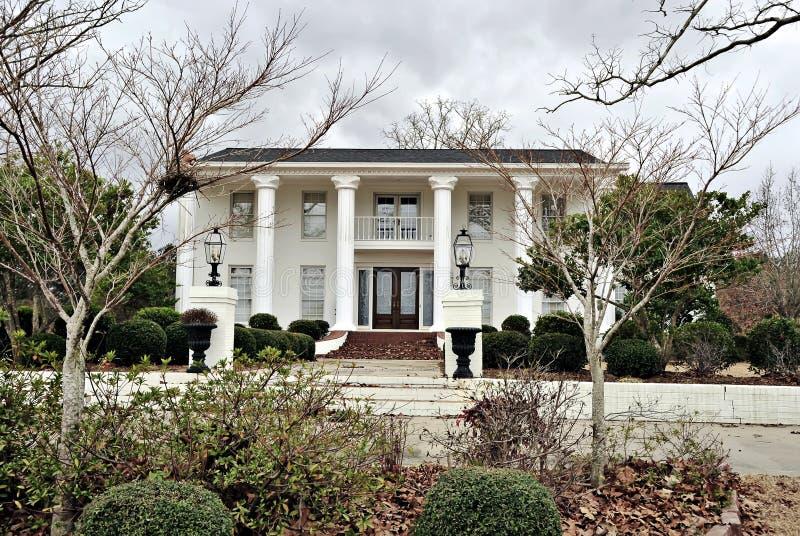 南部战前结构的豪宅 库存图片