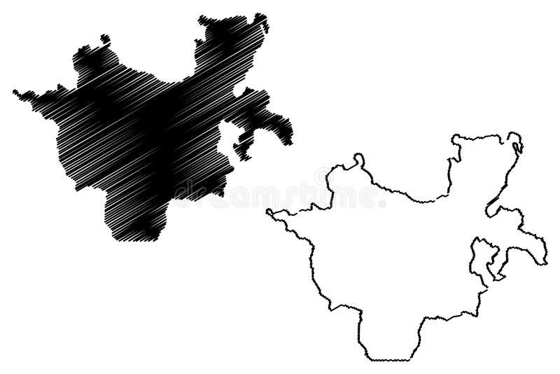南部的国家、国籍和人民的地区地图传染媒介 皇族释放例证
