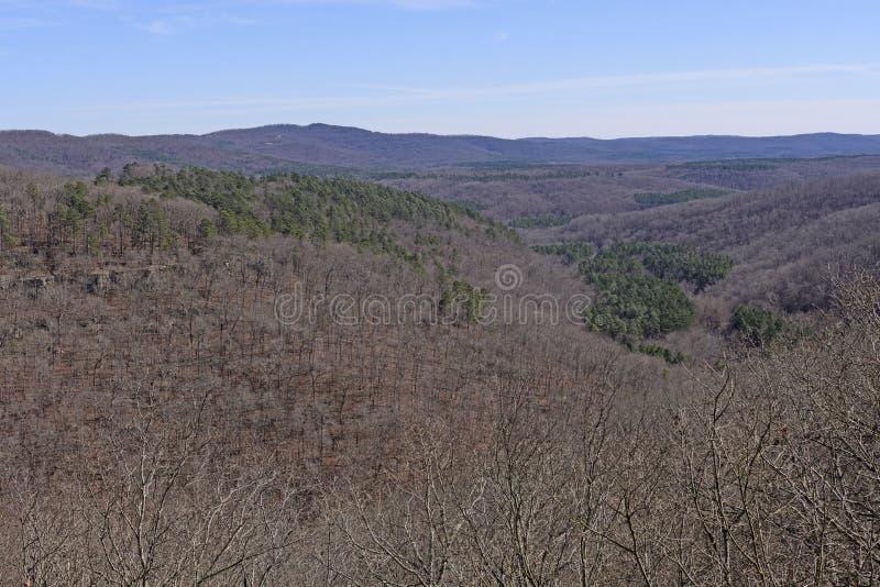 南部的山全景 库存照片