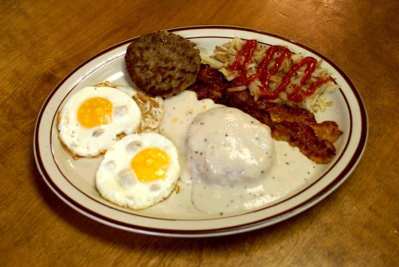 南部的早餐盛肉盘2 免版税库存图片