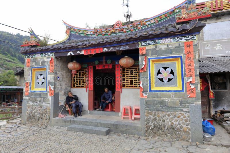 南部的福建传统住宅在南京县,多孔黏土rgb 库存图片