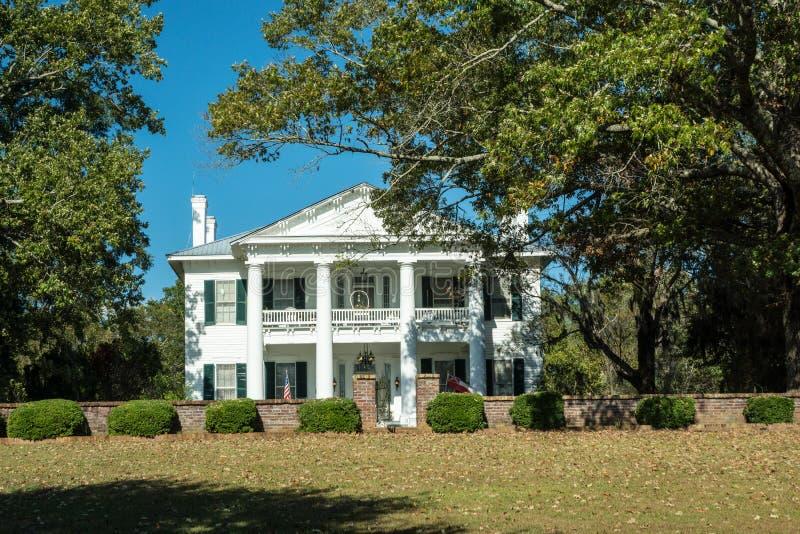 南部的种植园豪宅 库存图片