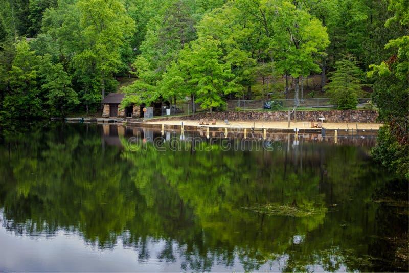 南部的Summer湖 库存照片