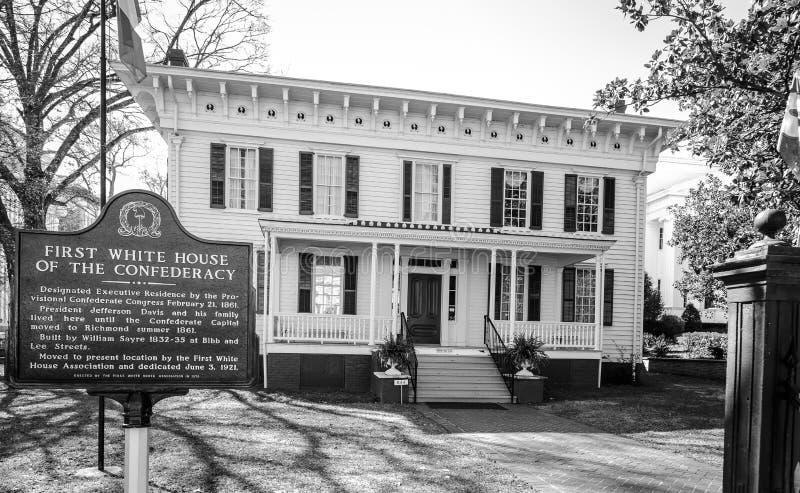南部邦联的第一白宫 免版税图库摄影