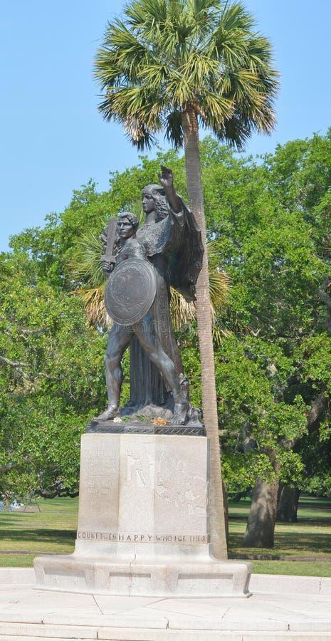 南部邦联纪念碑 库存照片
