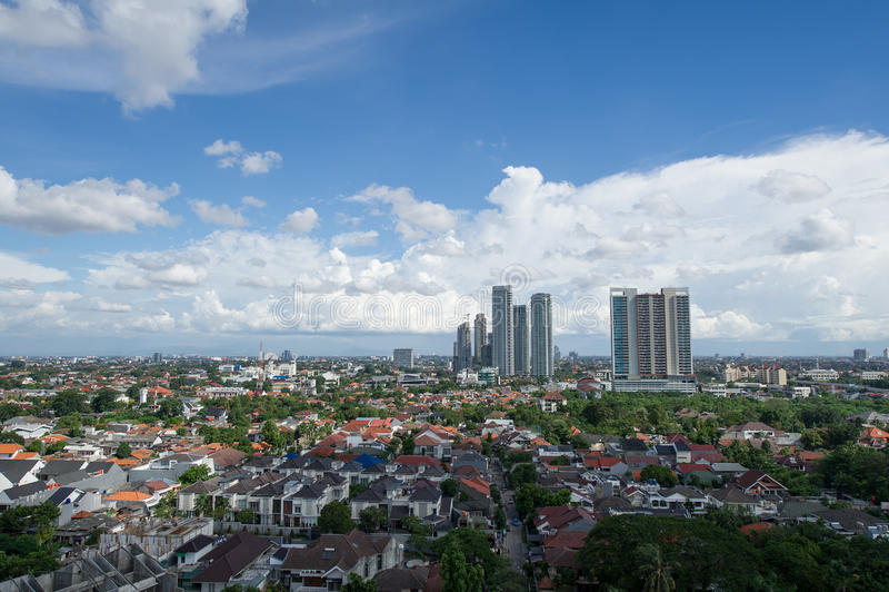 南雅加达,印度尼西亚看法  免版税库存照片