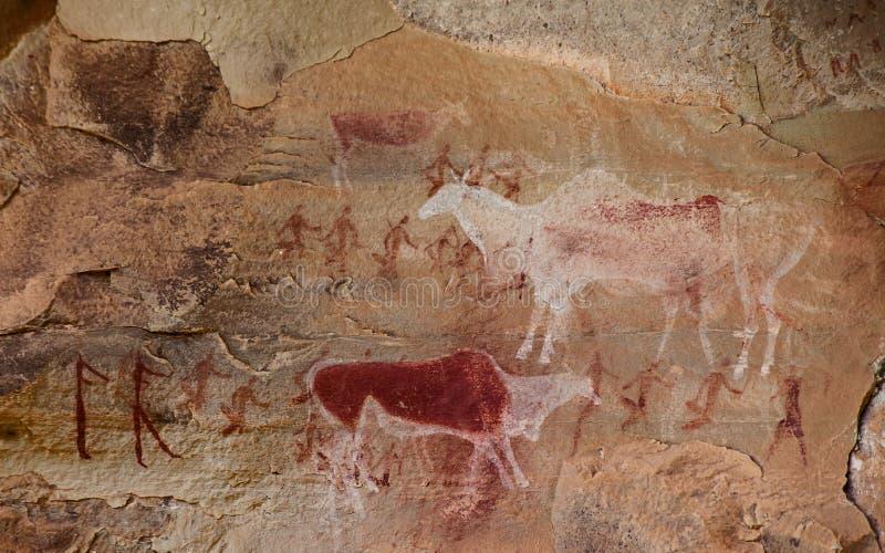 南非丛林居民岩石艺术10 库存图片