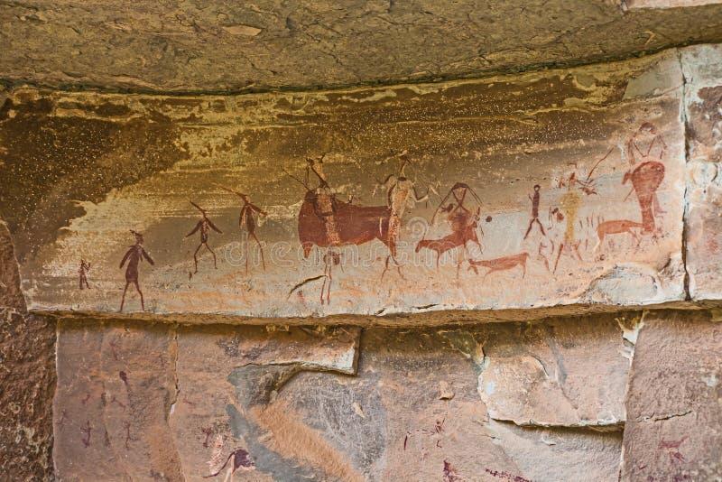 南非丛林居民岩石艺术5 免版税库存照片