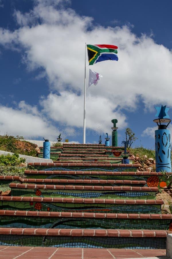 南非和乳腺癌知名度标志 库存图片