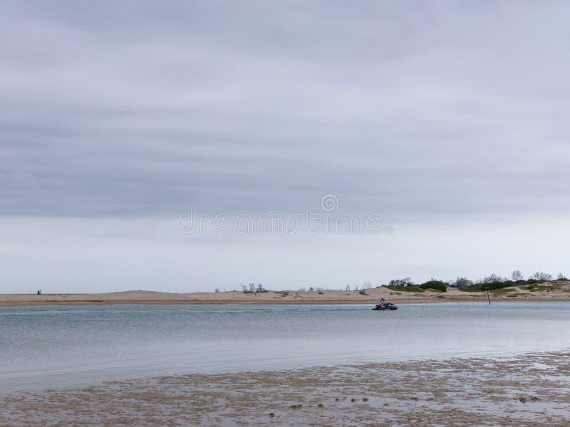 南非圣弗朗西斯的Krom rivier泻湖 免版税库存照片