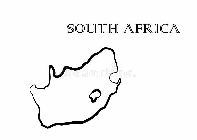 南非地图 向量例证