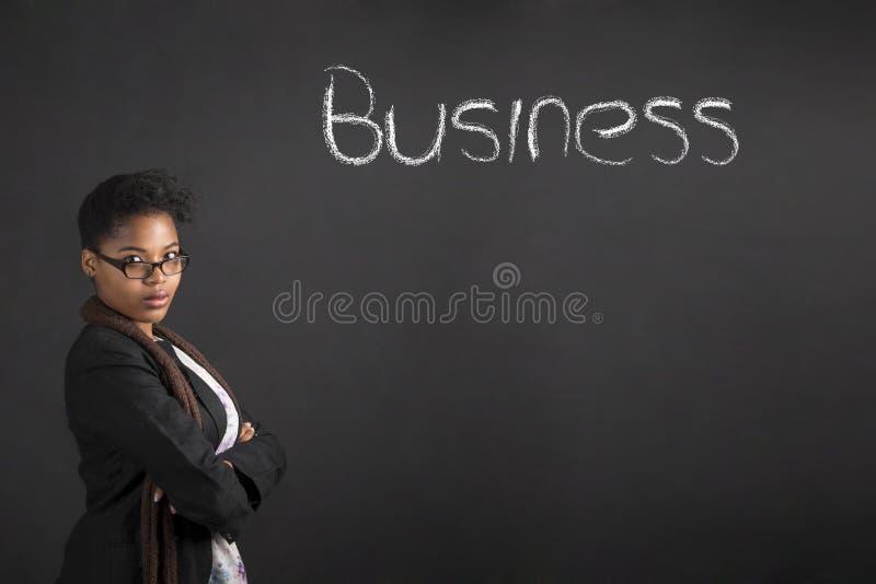 南非或非裔美国人的女商人 图库摄影