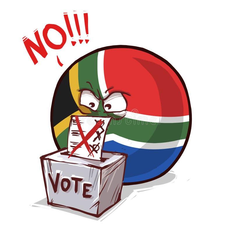 南非投反对票国家的球 向量例证